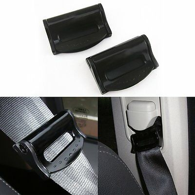 1 Pair Auto Car Seat Belt Safety Adjuster Clips Stopper Buckle Comfort Improves