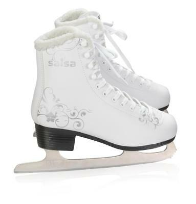 BAUD Womens Girls Classic Ice Skates Padded  PU Leather Look Full Lacing 30-41
