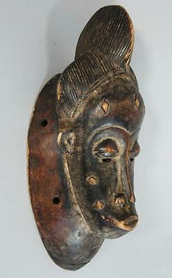FINE ANTIQUE BAULE GURO AFRICAN CARVED WOOD TRIBAL MASK IVORY COAST yoruba a