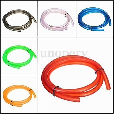 Universal Motorcycle Bike 1M Petrol Fuel Hose Gas Oil Pipe Tube 5mm I/D 8mm O/D