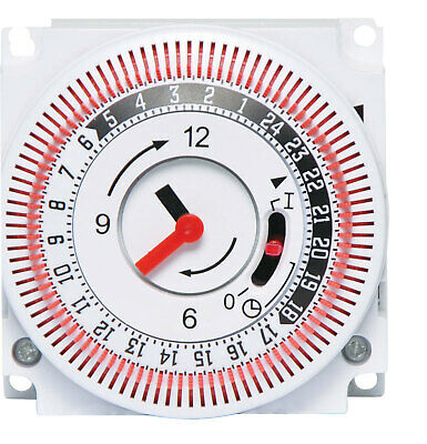 16A 240VAC Manual Mains Timer Switch/24 hour 240V mains operated ON/OFF timer