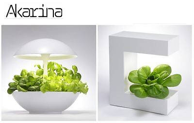 Akarina Hydroponic Indoor Plant and Flower Growing Systems with LED Grow Light