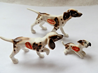 Bone China 3 Piece Pointer Dog Family
