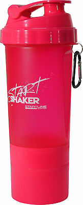 StartLine 600ml Gym Protein Shaker Bottle - Pink