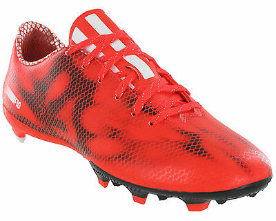 new style ff0ce a739f Adidas F10 FG Football Boots Firm Ground Red Mens Lace Moulded Studs B34859