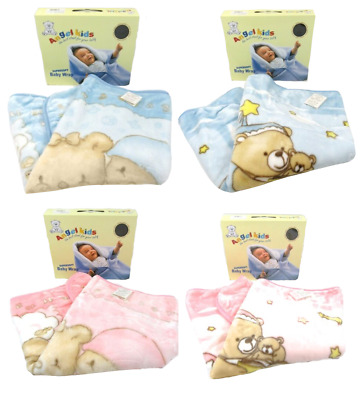 Baby Babies Clothes Convertible Beige Pink Blue  Wrap Blanket Spanish Style
