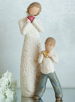Willow Tree Set Mother with Son Figurine Gift Set  Family Group
