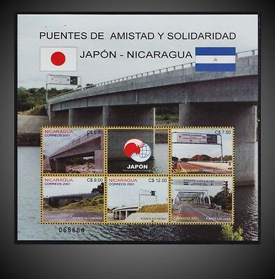 2001 Nicaragua  - Bridges Build With Japanese Government Help Sct. 2375 Nh