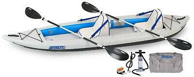 Sea Eagle 385Ft Inflatable Fast Track Kayak Deluxe Package Paddles, Seats, Pump+
