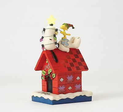 Snoopy Light up Dog House Figure By Jim Shore NEW  27402
