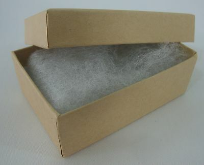 "25 New 3"" x 2"" x 1"" Gift Boxes Kraft Cotton Filled Jewelry Retail Store Supplies"