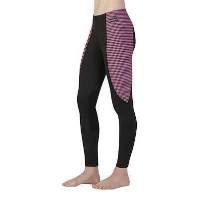 Kerrits Kids Performance Riding Tights/Breeches - Pink & Black HT - All Sizes