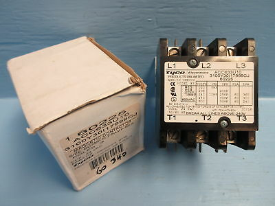 Tyco Electronics ACC633U10 New Contactor Model 93 60 Amp 600V 3P 30HP 24Vac Coil