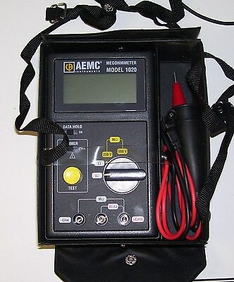 Aemc Model 1020 Megohmmeter With Leads And Case