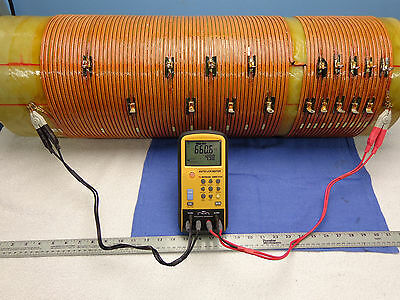 (0375) Massive RF Inductor coil..10KW tuner....660uH...19 taps