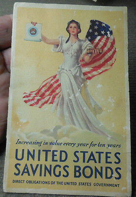 Vintage 1936  US Savings Bonds Patriotic Advertising Brochure