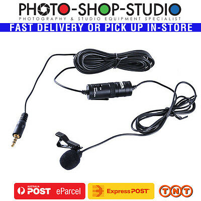 BOYA Lavalier Lapel Microphone BY-M1 (6m) Omnidirectional Record Audio Interview