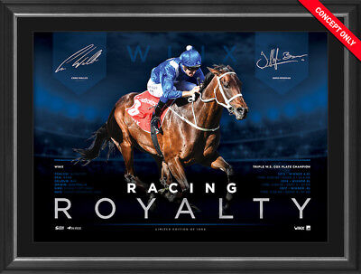 WINX – Racing Royalty – 3 Cox Plates Deluxe Sports Lithograph UNFRAMED