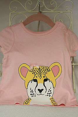 Mix Baby 6 - 9 months top with print six to nine months pink baby top new no tag