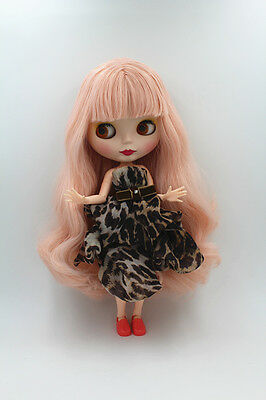 """12"""" Takara Neo Blythe Dolls from Factory Nude Dolls Light Pink Long Curly Hair"""