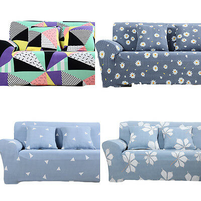 1/2/3/4 Seater Floral Sofa Slipcover Stretch Protector Soft Couch Cover Washable