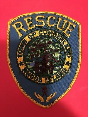 Town Of Cumberland Rhode Island Rescue Shoulder  Patch