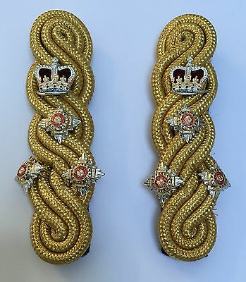 Brigadier Rank Gold 3 Ply Shoulder Cords Triple Twist, Army, Military, Officers