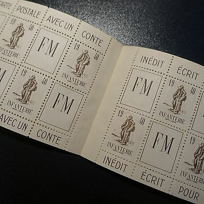 France Carnet Fm Franchise Militaire N°10A 1940 Neuf ** Luxe Mnh Cote 160€