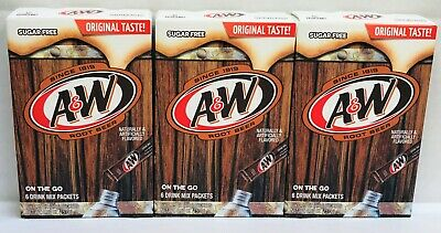 A&W Root Beer Singles To Go Sugar Free Drink Mix .53 oz