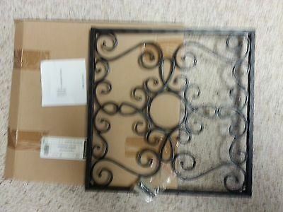 LONGABERGER HAMMERED METAL Square Wrought Iron Wall Art Panel Fits W ...