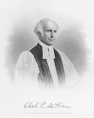 Episcopal Bishop Senate Chaplain CHARLES PETTIT McILVAINE ~ Art Print Engraving