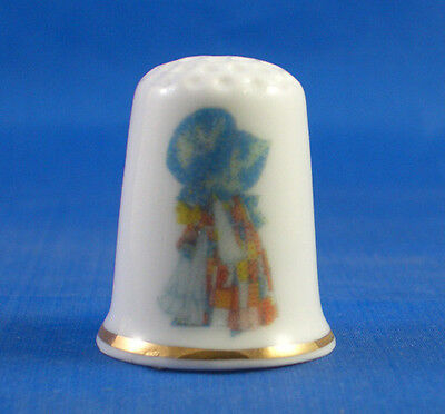 Birchcroft  Porcelain China Thimble - Holly Hobbie -  Free Gift Box