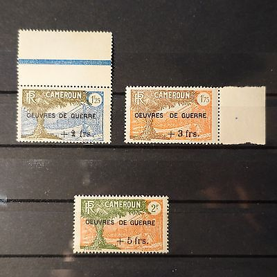 France Colonie Cameroun N°233/235 Neuf Sans Gomme Cote 75€