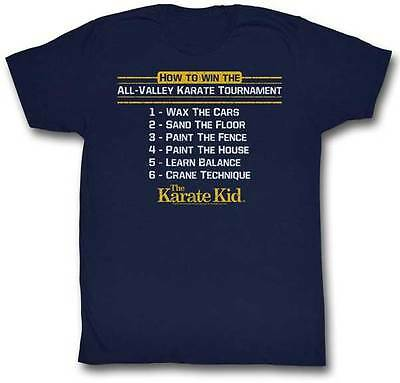 Karate Kid How To Win The Tournament Adult T Shirt Great Classic Movie