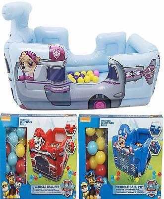 Paw Patrol Inflatable Ball Pit Fun House Bouncy Castle - Choose Your Design