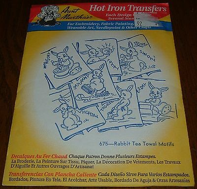 Newaunt Marthas Hot Iron On Transfer Embroidery Patterns675