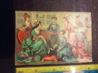 Vintage Trade Card - Day & Martin Shoe Black - Shoe Store Scene - Paper Loss