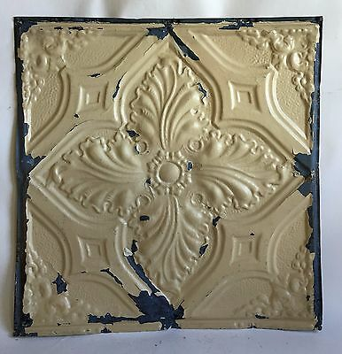 "24""x 24"" Antique Ceiling Tin Tan  *See Our Salvage Videos Reclaimed C62a  Metal"