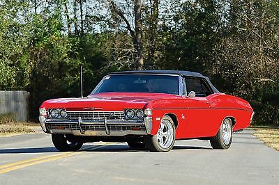 1968 Chevy Impala convetible black top | 24 x 36 INCH POSTER | sports car