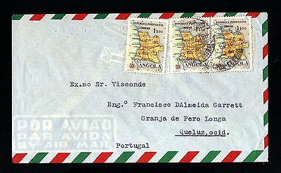 15018-ANGOLA-AIRMAIL COVER LUANDA to PORTUGAL.1963.Portugal colonies