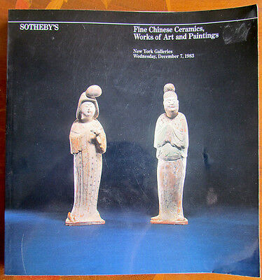 Fine Chinese Ceramics, Works Of Art & Paintings Sotheby's Auction 1983 Catalogue