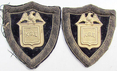 Knights Of Golden Eagle Fraternal Pair Of Antique Patches