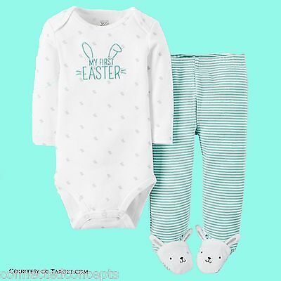 Carters My First Easter Infant Bodysuit and Pants Outfit (SIZES Newborn - 9 Mo)