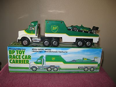 1993 Bp Toy Race Car Carrier With Box Made In China