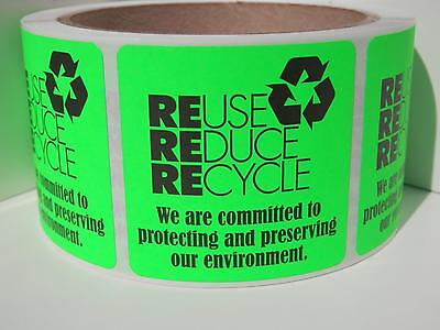 RECYCLE We are committed to protecting our environment 2x2 Sticker Label 250/rl