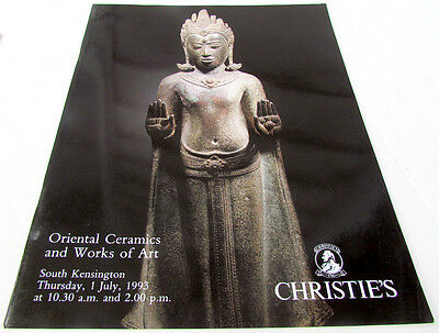 Oriental Ceramics And Works Of Art 1993 Christie's Auction Catalogue