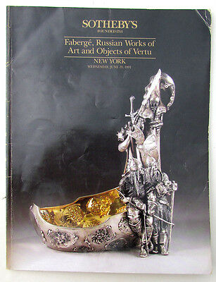 1991 Faberge, Russian Art & Objects Of Vertu Sotheby's Auction Catalogue Book