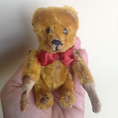 "RARE Schuco 4"" Minature Mohair Tumbling Bear Mechanical Arms Nice Overall LOOK"