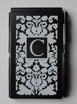 q initial C FLIPNOTES Flip Note notepad pen wellspring purse pad