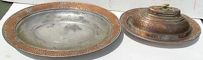 2 Antique Islamic Oval Dishes (Trays) With Arabic Writings